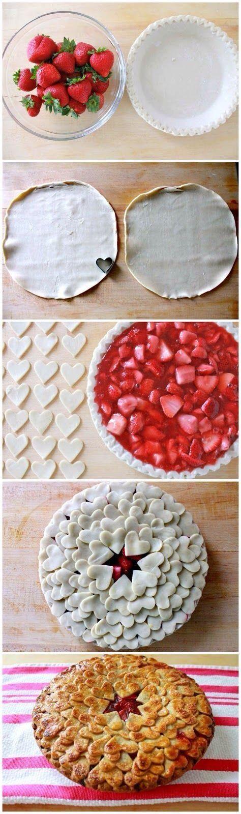 Valentine's Strawberry Pie
