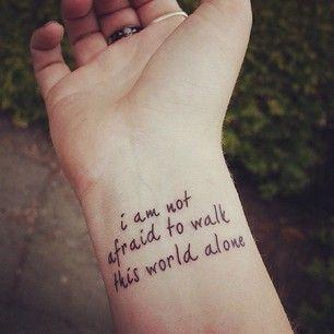 Wrist Written Tattoo