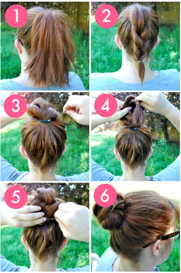Easy Step By Hairstyles The Knot So Braided Bun