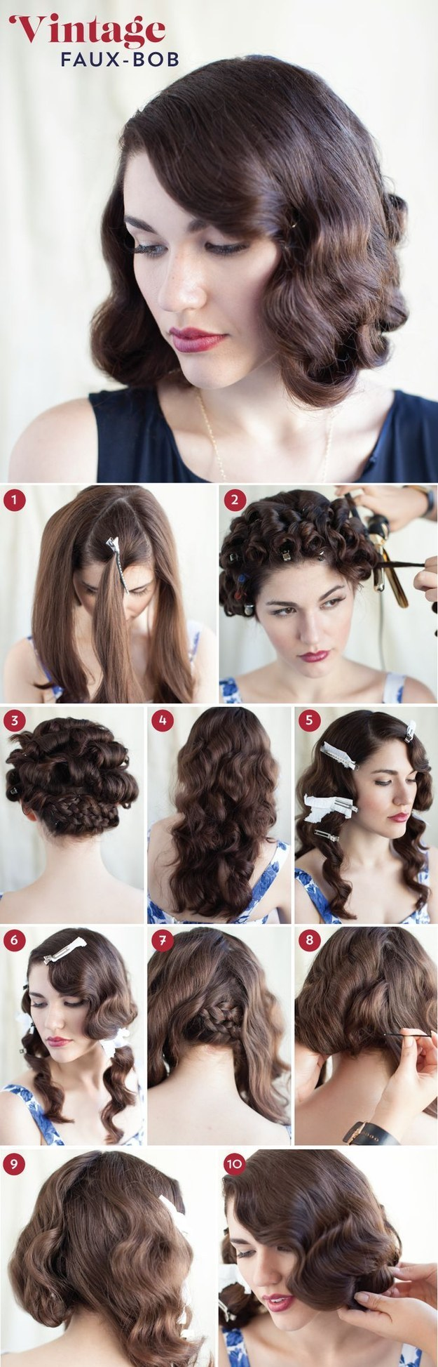 30 DIY Vintage Hairstyle Tutorials for Short 9a715310b