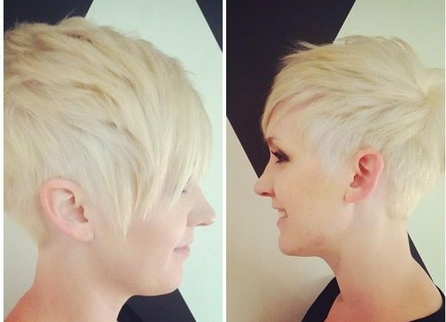 Asymmetric Pixie Cut for Blond Hair