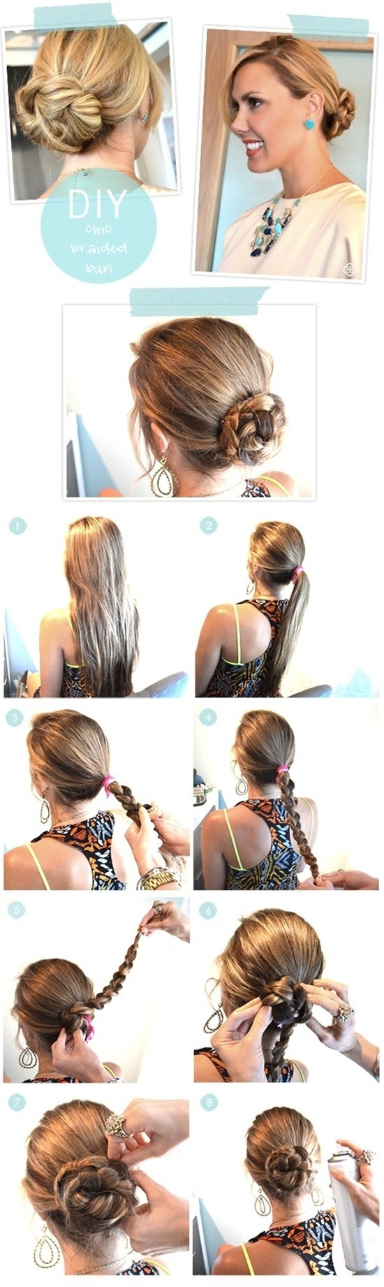 Braided Bun Tutorial for Long Hair