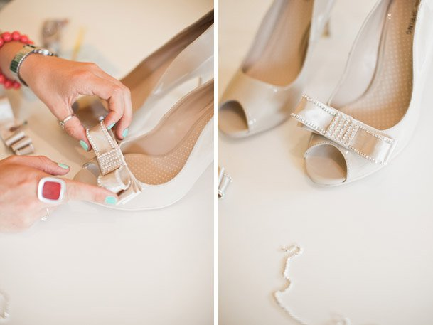 Bridal Heels with Bows