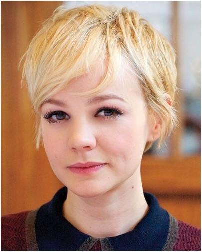 Cute Blonde Pixie Haircut for Fine Hair