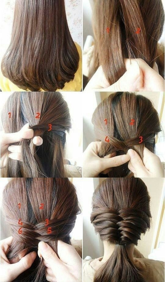 Easy Braid Hairstyle for Medium Straight Hair