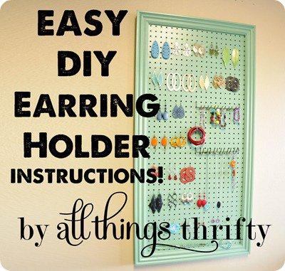 15 Diy Projects Earring Holders Pretty Designs
