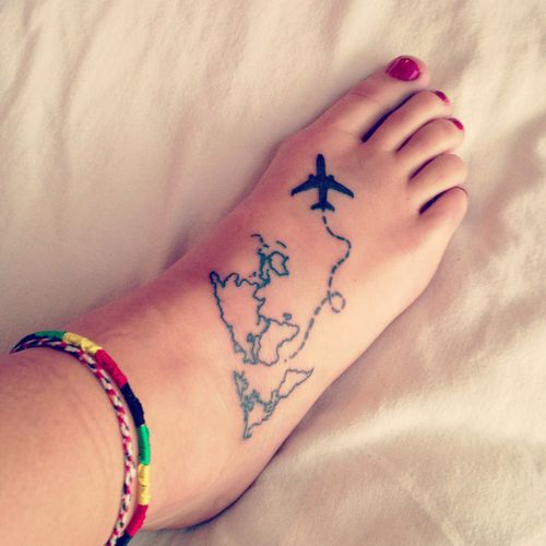 Flying Plane Tattoo