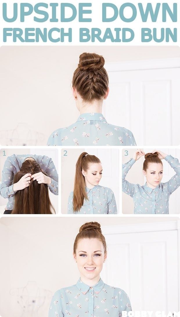 French Braid Bun Tutorial