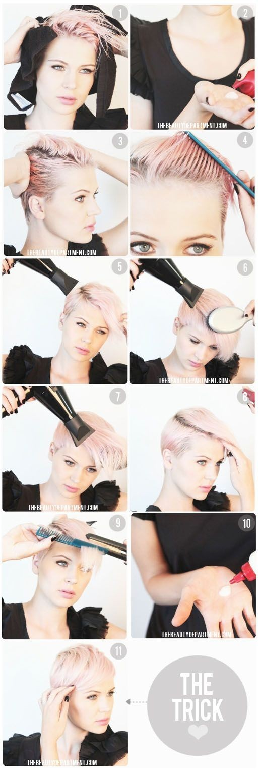 How to Style Pixie Hairstyle
