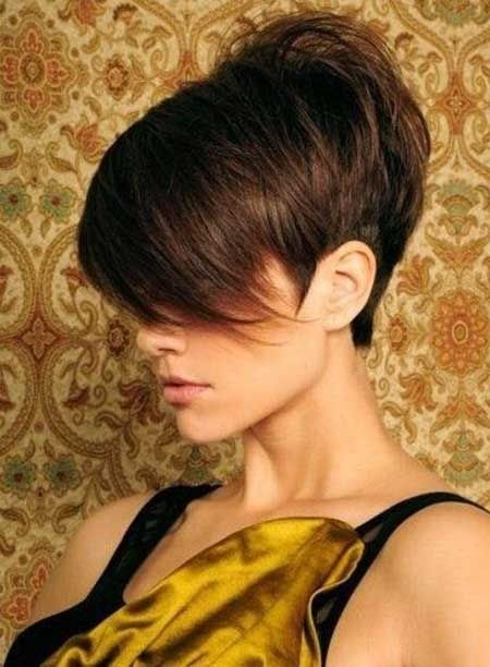 Layered Pixie Haircut for Brunette Hair