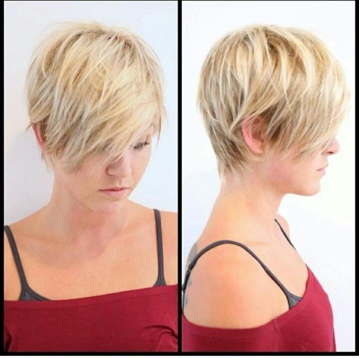 Layered Short Blond Haircut
