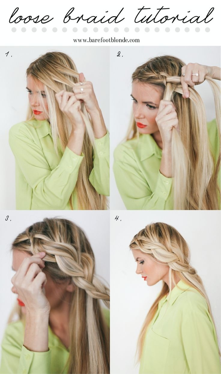 Loose Side French Braid Tutorial