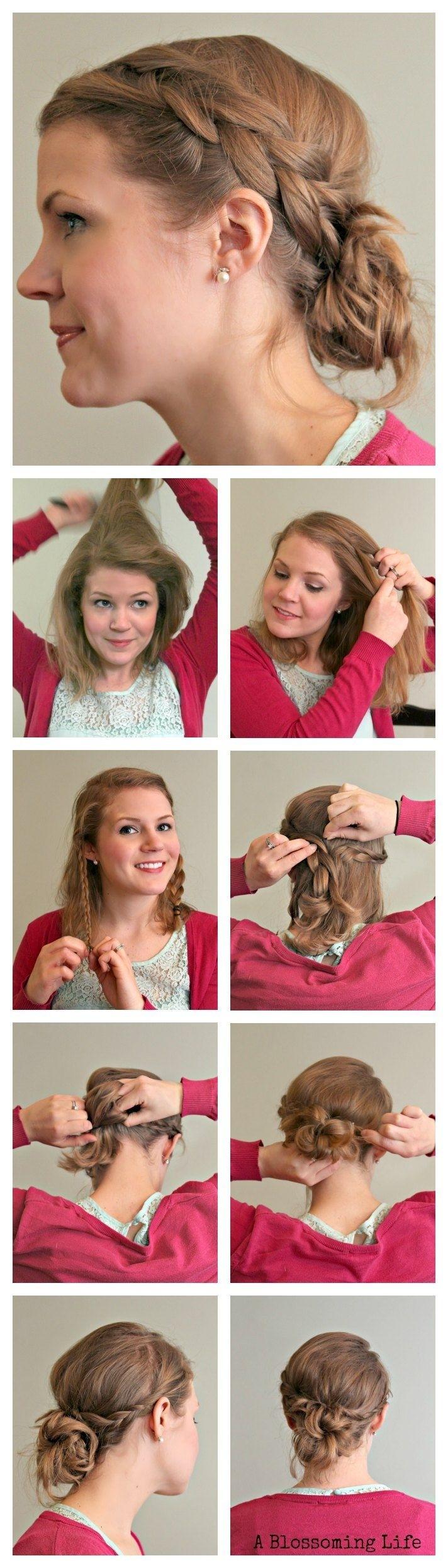 Side braid updo hairstyle tutorial │easy kareena kapoor messy.