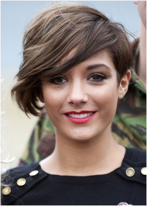 Pixie Haircut with Side Long Bangs