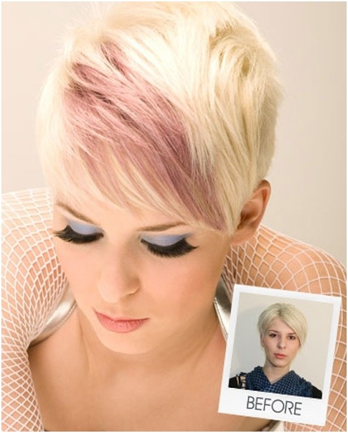 Purple Colored Short Hair for Women