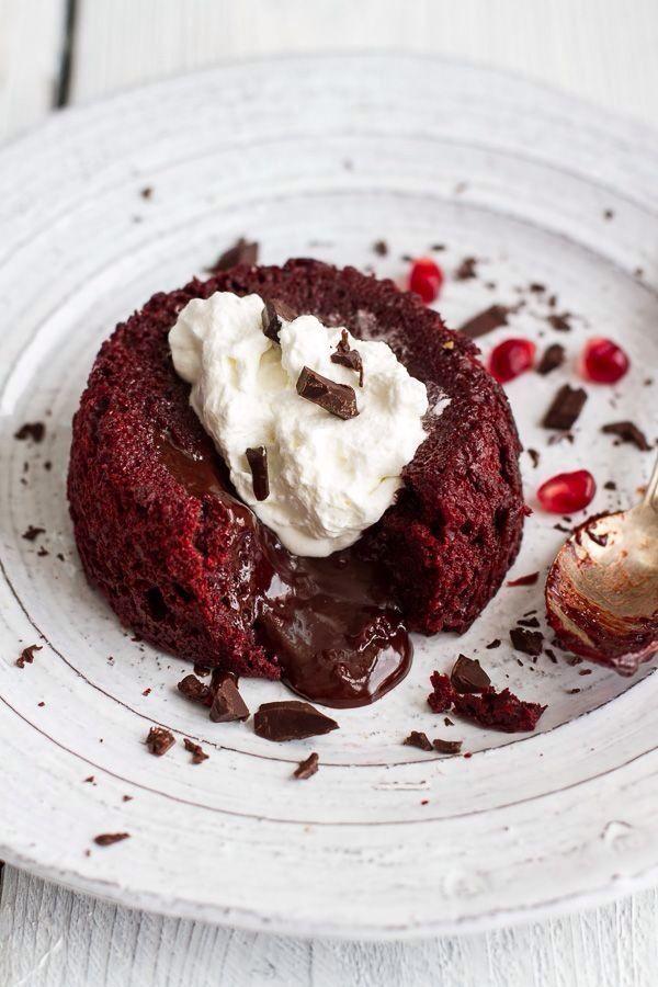 Red Velvet Molten Chocolate Lava Cake
