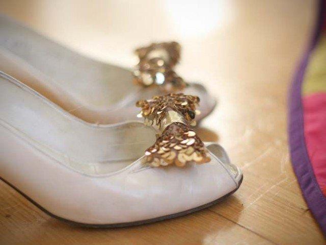 Sequin Bow Heels