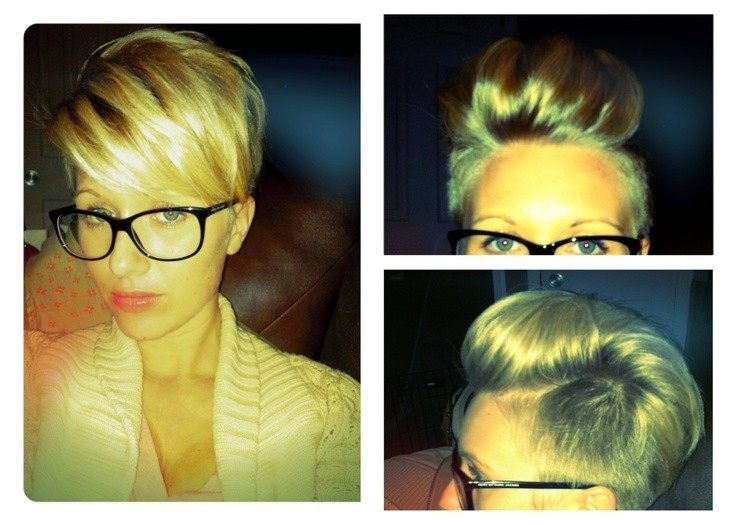 Short Blond Hairstyle for Thin Hair