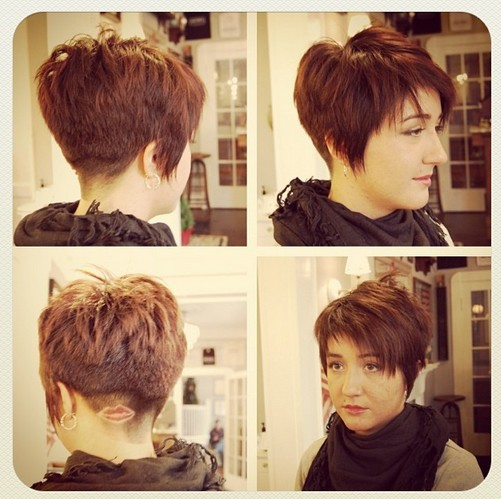 Design shaved into short haircut