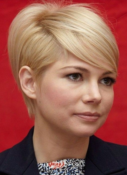 Short Hairstyle with Side Bangs for Women