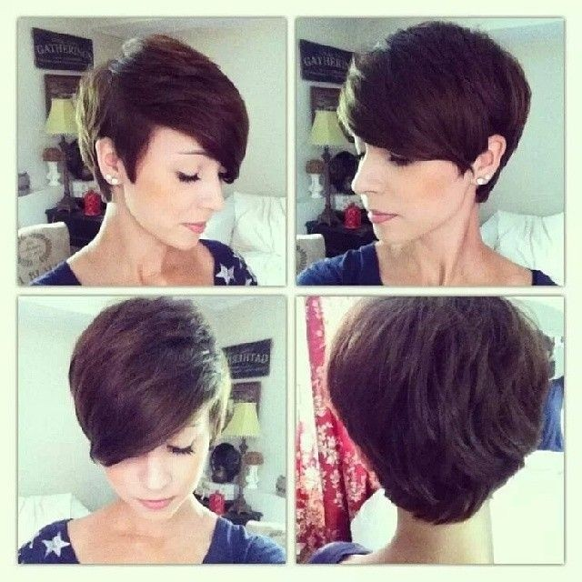 Short Pixie Hairstyle for Oval Face