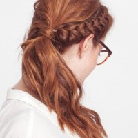 Side Ponytail with Braid