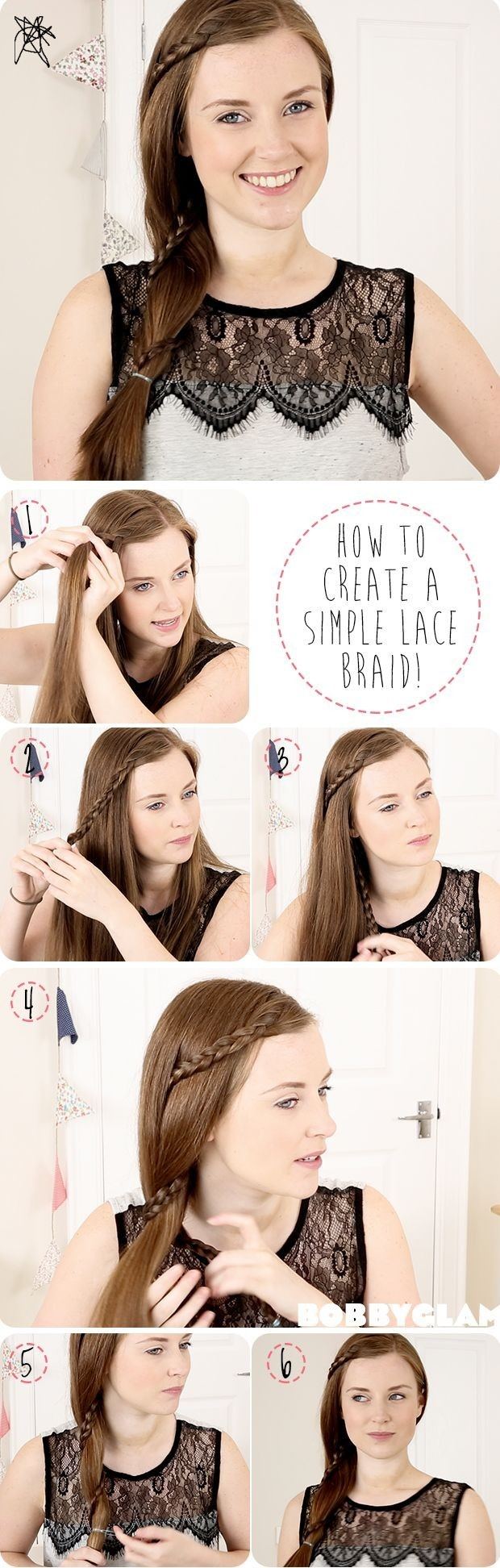 Simple Lace Braid Hair Tutorial