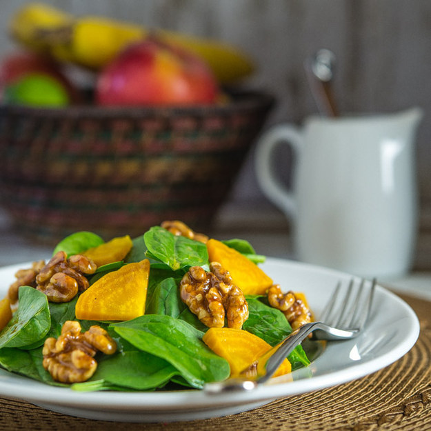 Spinach and Golden Beet Salad