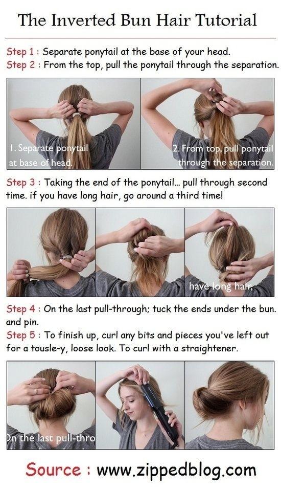 The Inverted Bun Hair Tutorial