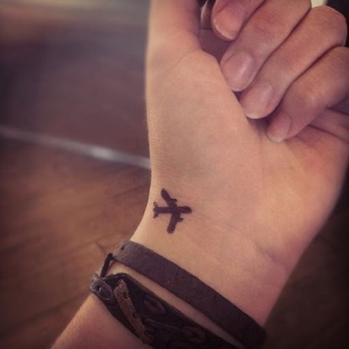 Tiny Plane Tattoo