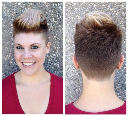 Two-Tone Pixie Haircut for Women