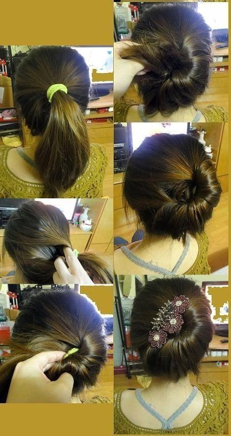 Elegant Updo for Medium Hair
