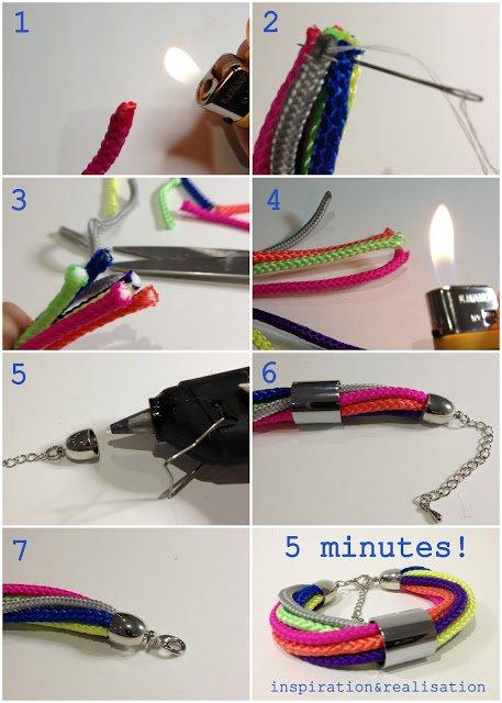 Как сделать браслет своими руками модный и простой