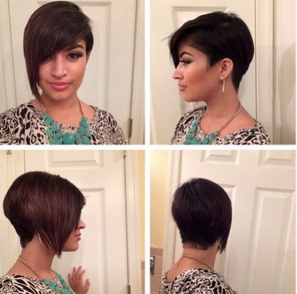 Asymmetric Short Haircut with Bangs