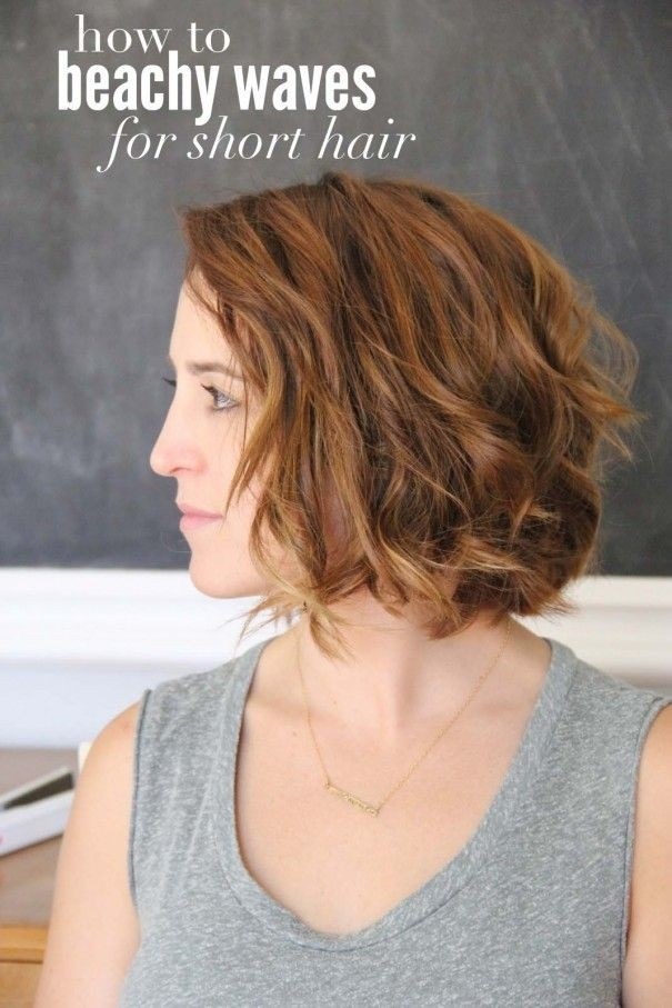 Beach Wavy Hairstyle for Short Hair