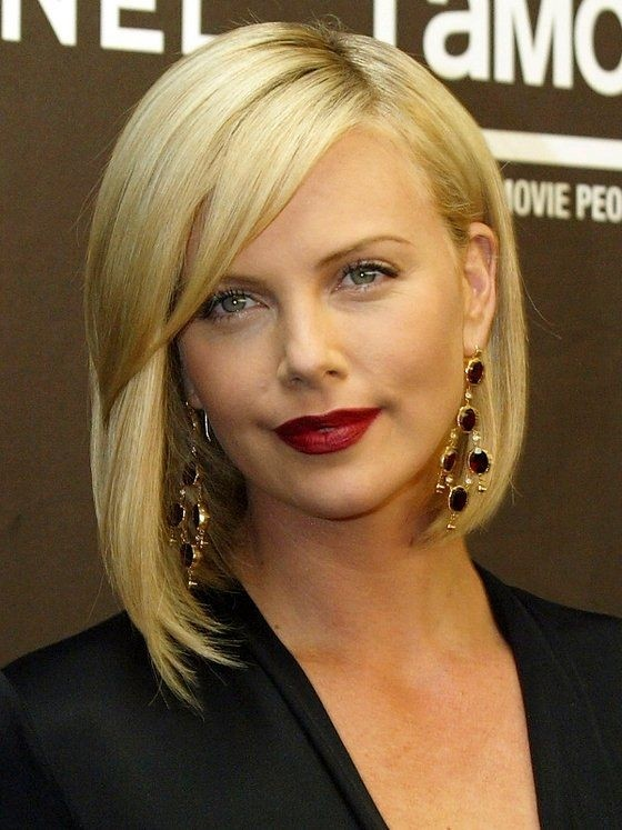 Blond Bob Haircut with Asymmetric Cut