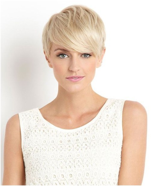 Blonde Pixie Haircut for Women
