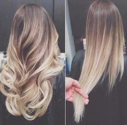 Blonde to Medium Brown Ombre Hair