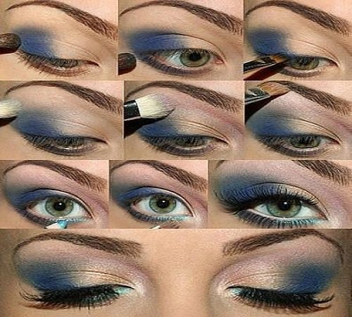 Blue Ombre Eyeshadow