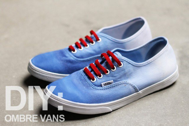 Blue Ombre Sneakers