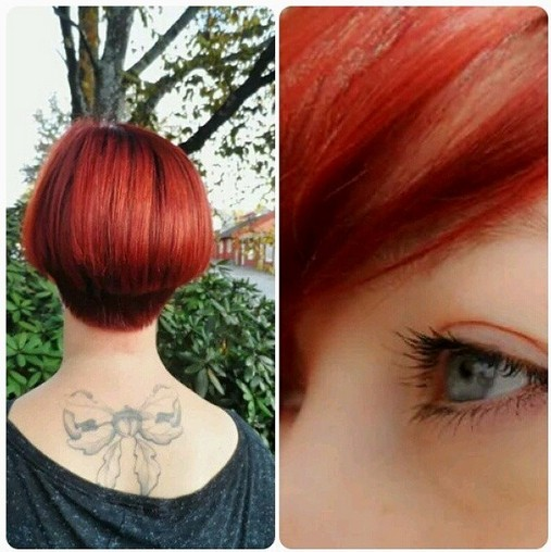 Bob Hairstyle for Red Hair