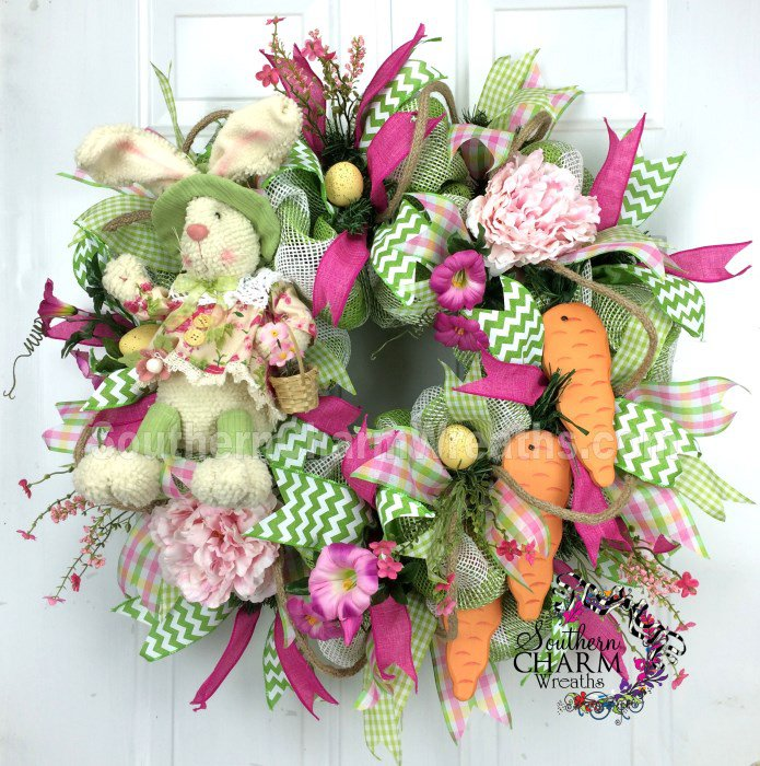 Bunny and Carrot Wreath