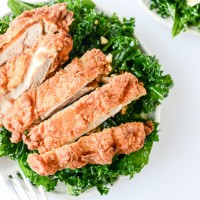 Chili Garlic Shredded Kale Salad with Chicken