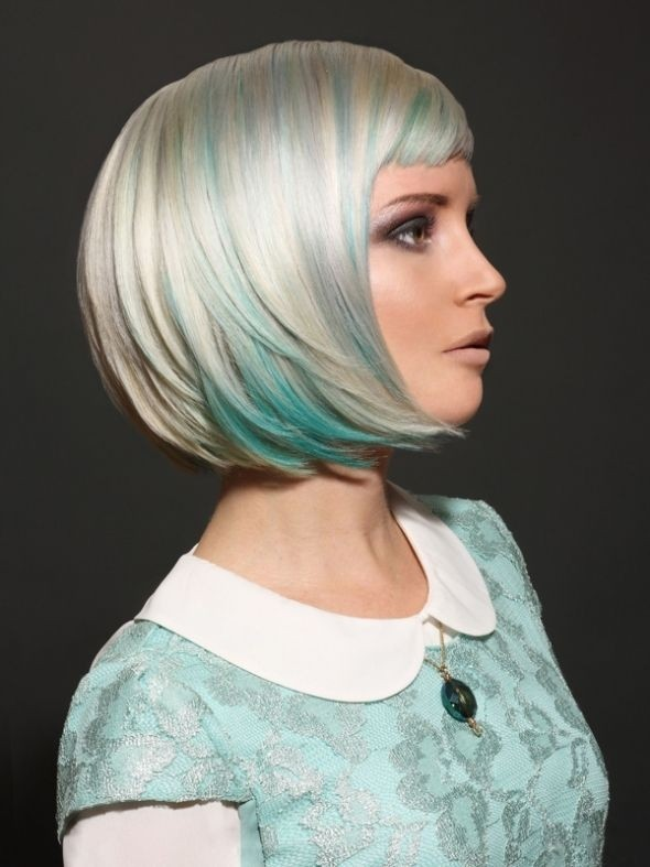 Colored Bob Hairstyle for Short Hair