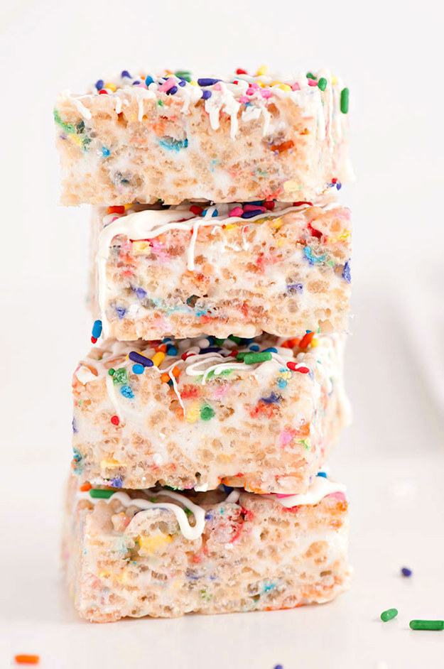 Confetti Rice Krispie Treats