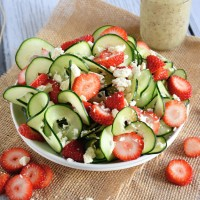 Cucumber Strawberry Poppyseed Salad