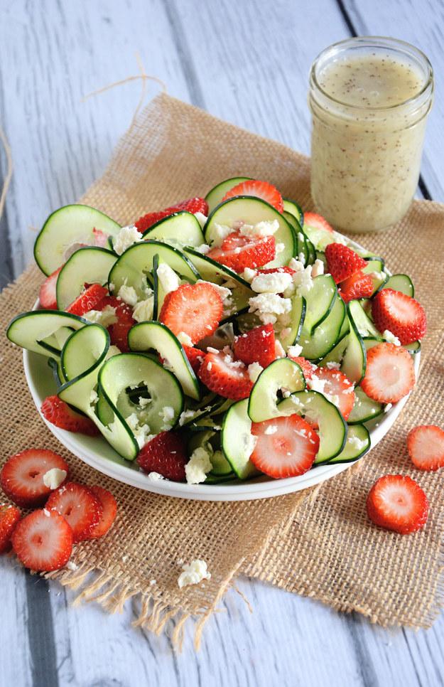 Cucumber Strawberry Poppyseed Salad
