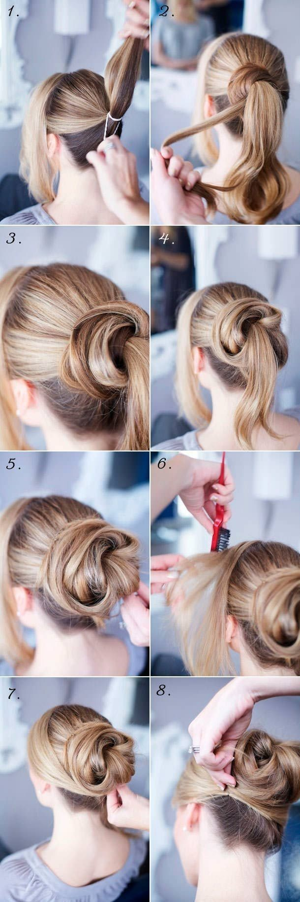 14 easy step by step updo hairstyles tutorials pretty designs cute updo tutorial for long hair baditri Image collections