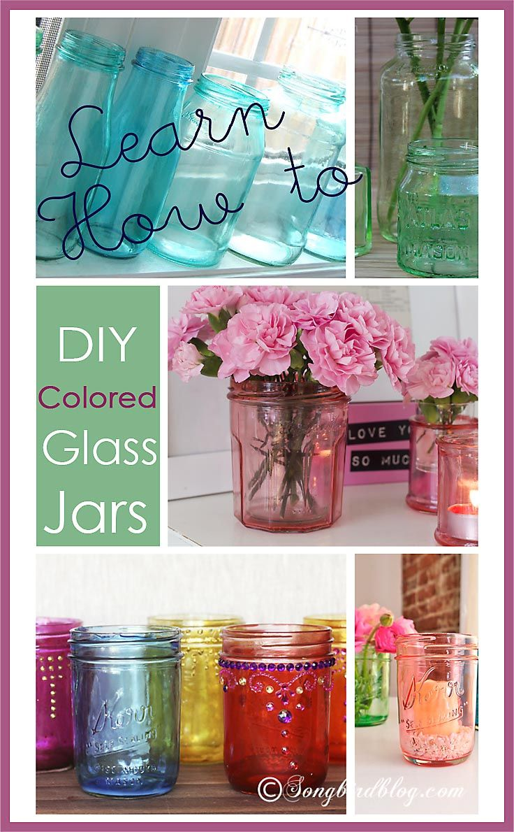 DIY Colored Glass Jars