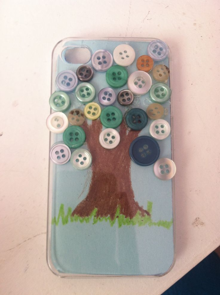DIY Phone Case with Buttons
